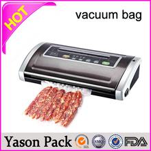 Yason hot external vacuum sealer bag with channelled / texture nylon vacuum bag aluminium foil high barrier food vacuum plastic