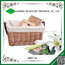 Handmade bulk empty storage basket wicker