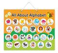 E1003 2015 vendas por atacado abc alfabeto inglês aprendizagem magnética educacional gráficos para crianças criança professor