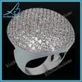 tamanho grande pedra cz micro pavimentar diamantes de imitação anel