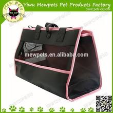 leather pet carrier dog bag cage travel pet bag