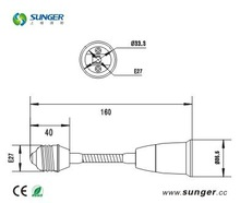 E27 to E27 extension lamp holder any length 160mm