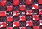 Hot melt adhesive glass crystal rhinestone sticker 24*40cm