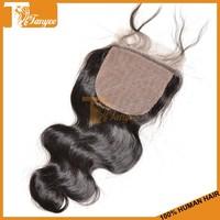Grade 6A Natural Body Wave 100% Human Peruvian Virgin Hair Silk Base Free Part Closure