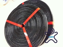 Black Silicone coated fire sleeve / high temperature resistant
