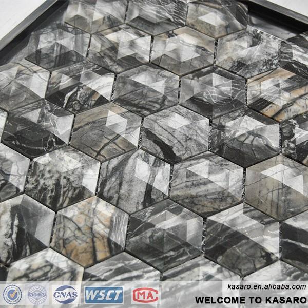 Outdoor Stone Wall Tile Hexagon Floor Tile Italian Marble Stone Flooring Til