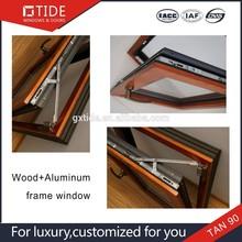Thermal break and heat insulation tilt up window aluminum with wood,roto window hardware