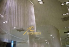 2015 New Product brilliant gold color decorative metal beads string curtain