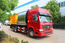 10000L-20000L asphalt synchronous chip sealer truck with bitumen and stone 6000L asphalt tank, 10000L chip sealer tank