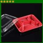 Disposable plastic food container for restaurant takeout box