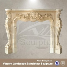 Chinese brand 30% discount white marble diy fireplace surrounds
