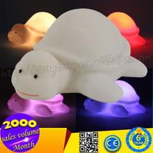 Wholesale 7 Color Changing Tortoise Shape Night Light , LED Light Toy for Kids