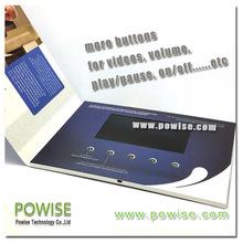 Vídeo brochura fabricação AVIC placa de vídeo saudação em 2.4 / 2.8 / 4.3 / 5 / 7 / 10.1 polegada de vídeo brochue fábrica cartão