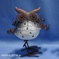 de cerámica con el metal del oem baratos búho titular de la vela