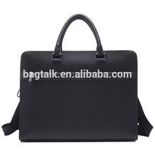 Shine Genuine beauty mellow wind gentel briefcase men executive leather