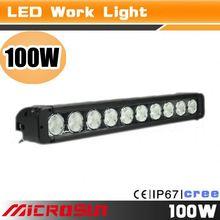 Best Auto Electrical System 100W Led Driving Lightbar,4X4 Dot Led Light Bars