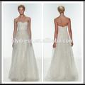 Un- ligne sweetheart zipper dos blanc cristal personnalisé organza robes de mariée robes de mariée robes de mariée wdz066 en turquie