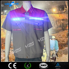 hi vis flashing led t shirt