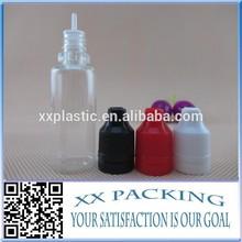 20ml PET plastic eliquid bottle with childproof&tamper evident cap