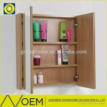 home decorative modern new wood medicine cabinet, mdf meuble salle de bain bathroom cabinet