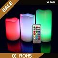 Cambio de color de la vela sin llama LED control remoto