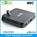 amlogic m8c s802 رباعي النوى تنزيل البرامج للكمبيوتر واي فاي الروبوت مربع التلفزيون الذكية