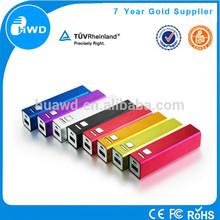 2015 hot sale single 18650 battery powerbank 2000mah 2600mah power bank battery charge for Iphone 6