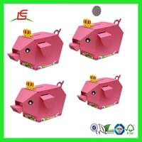 Q924 OEM Cute Cheap Cardboard Money Box, Different Shaped Decorate Money Box