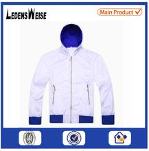 White zippered high-quality spiritual sport jacket with elastic cuff