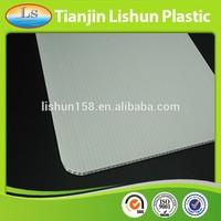 4mm White Common 4x8 Corrugated Plastic Sheet