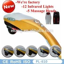 2015 best massage hammer ABS material and streamline design handheld infrared massage hammer