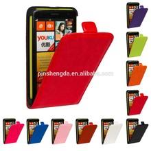 Mobile Phone wallet leather flip case for nokia lumia 625