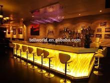 Newest Design Unique Bar Counter Design Illminated LED Lights