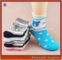 Custom wholesale women's cotton sock without spandex