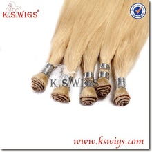 K.S WIGS Premium Quality Colored wholesale 100% hand tied virgin Brazilian remy hair weft