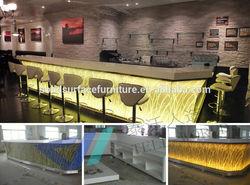 Modern commercial high glowing led bar counter/led bar furniture custom