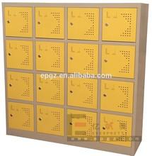 16-Door Steel Student Lock Storage with Padlock for Steel School Furniture