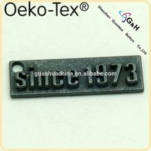 metal embossed logo plate