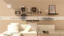 Custom design oem clear wall mounted cube shelf modular bookcase