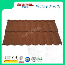 Classical Wanael stone coated metal roof tile/economic home roof/guangzhou construction materials