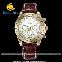ouyawei mechanical fashion high quality water resistant genuine leather men watch(WJ-3696)
