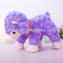 purple small cute plush sheep