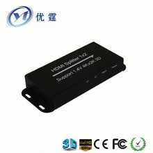 1 to 2 port hdmi distribution amplifier splitter multiplier with hdcp