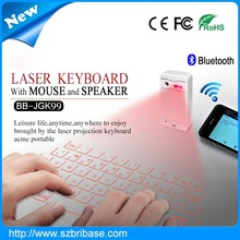 best selling flexible wireless virtual laser keyboard and mouse & Bluetooth speaker functions for smartphones
