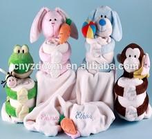 baby blanket animal pattern/ plush+animal+baby+blanket/baby blanket pattern