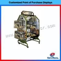 Hot sale supermarket floor standing gun display stand