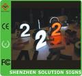 metal personalizado sinais led frontlit sinais diferentes estilos de letras do alfabeto