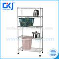 Hkj-b015 3- camadas comercial metal fio ajustável aço cromo elegante living casa fio prateleira/fio prateleiras/cozinha fio stor