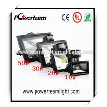 Led Flood Outdoor Floodlight 50w PIR LED Flood light with motion sensor Spotlight RGB waterproof AC85-265V