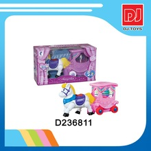 2015 new toy BO carriage with music and light battery operated toy horse carriage plastic toy